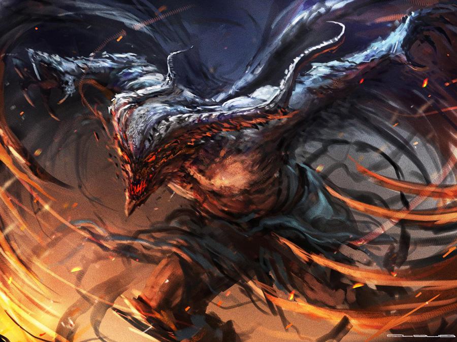 Winged demon - Christian Quinot
