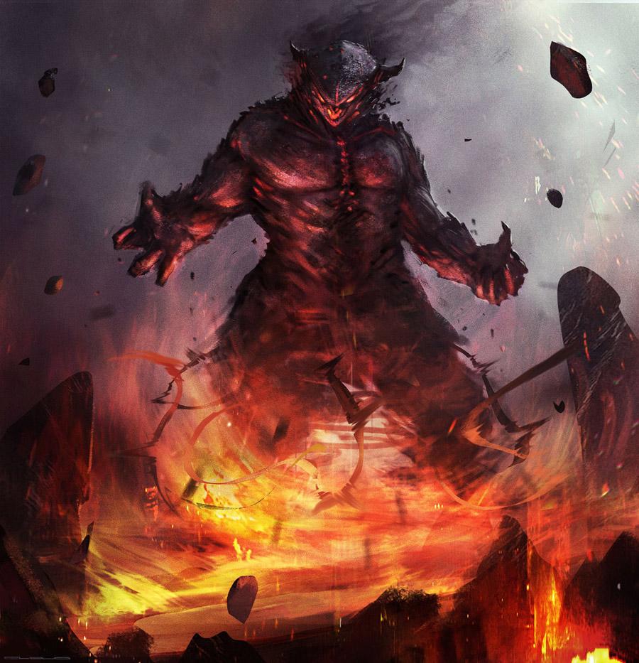 Fire giant - Christian Quinot