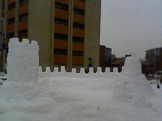 Snow fort from the back