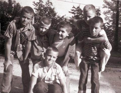 Tollie Clark, Sandy Little, Charles Mann, Joe Phillips, Johnny Barrett, Hank Brandis, October 1959, Chapel Hill Medium Web view-1