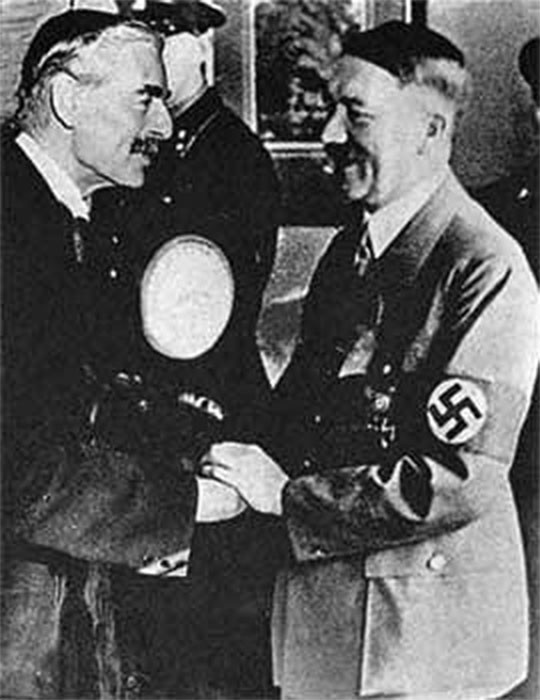 chamberlains and churchills opinions on adolf hitler In britain key opponents of appeasement included: winston churchill - well known enough (alfred) duff cooper - spoke german extremely well, visited.