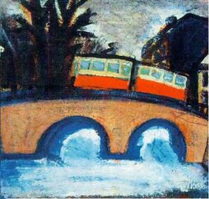 """Владимир Шагин. """"Трамвай"""". 1950-е. Холст, масло"""