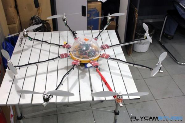 октокоптер - мультироторный летающий аппарат флайкам студия