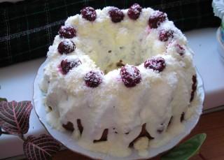 Очень вкусный кекс с вишней