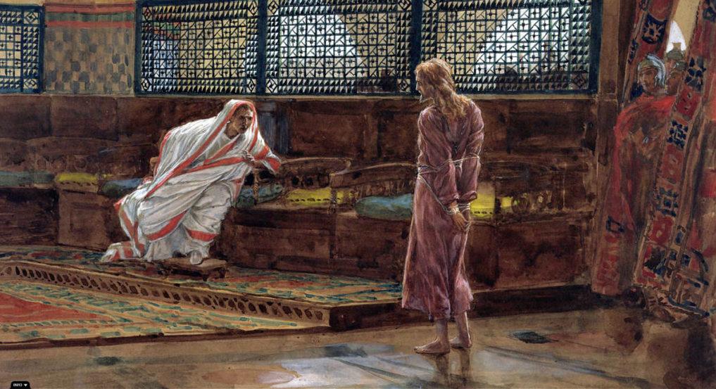 фрагмент картины Иисус Христос перед Пилатом. Джеймс Тиссо. 1886
