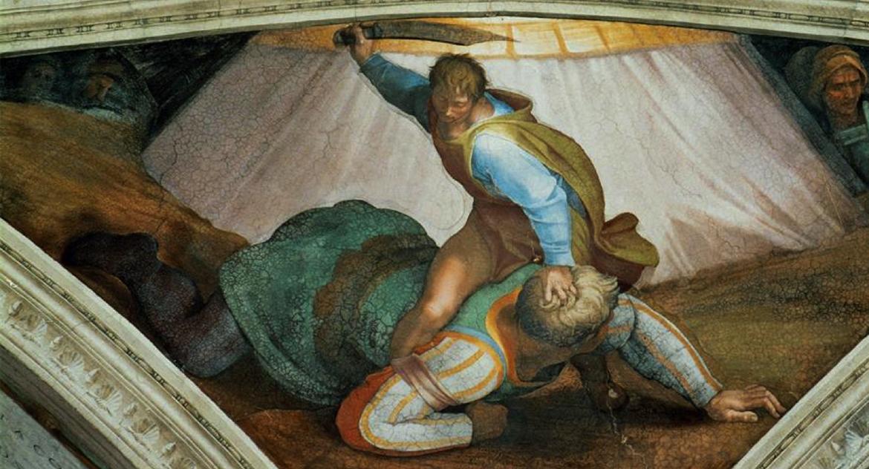 «Давид и Голиаф», Сикстинская капелла