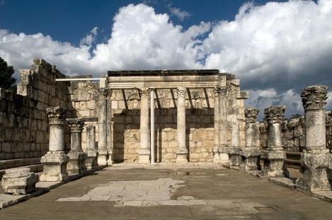 Синагога в Капернауме. Фото: wikiwand