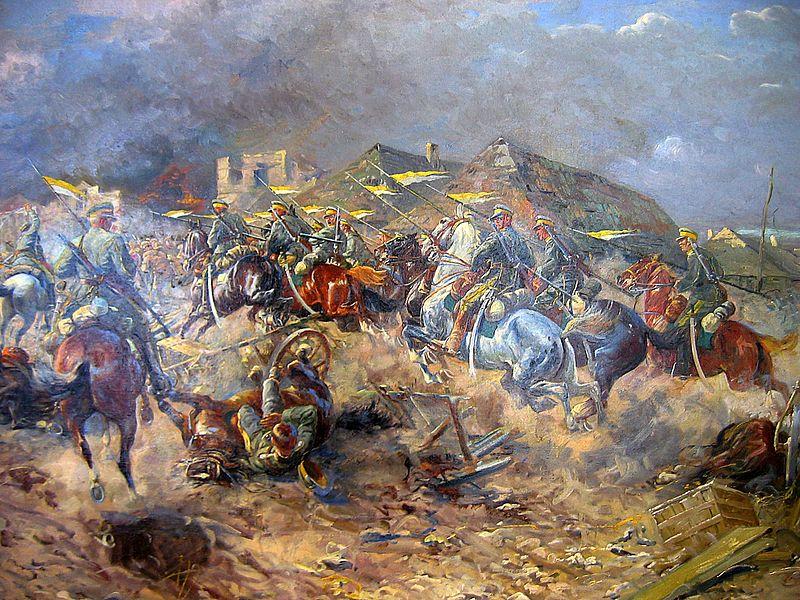 атака 3-го уланского под Слуцком