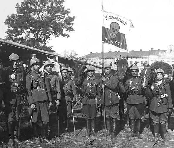 польские добровольцы под Львовом в 1920-м