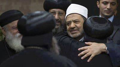 Патриарха Коптской церкви Феодора  II с Шейхом старейшего в мире исламского университета Аль-Азхар