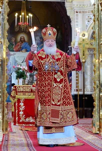 Святейший Патриарх Кирилл Пасха 2014 года 20 апреля