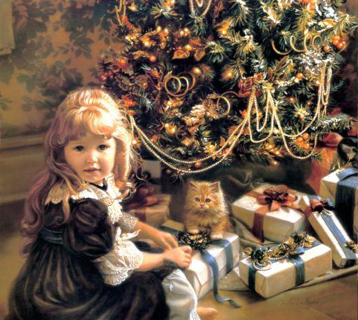 девочка новый год
