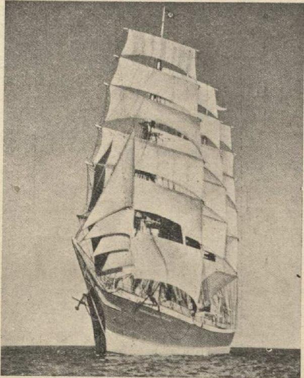 """Учебное судно Hamburg-Amerika līnija  """"Admiral Karpfange"""""""