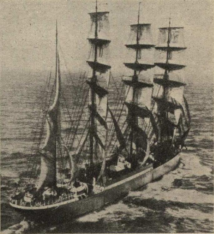 Немецкое учебное судно Kommodore Johnsen