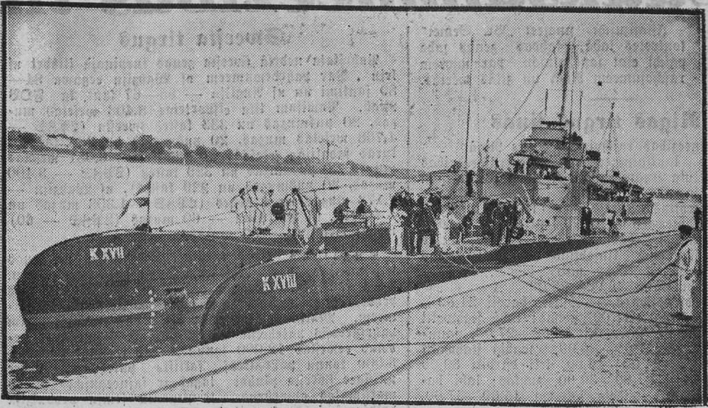 Голландские  подводные лодки в Рижском порту 07.1934