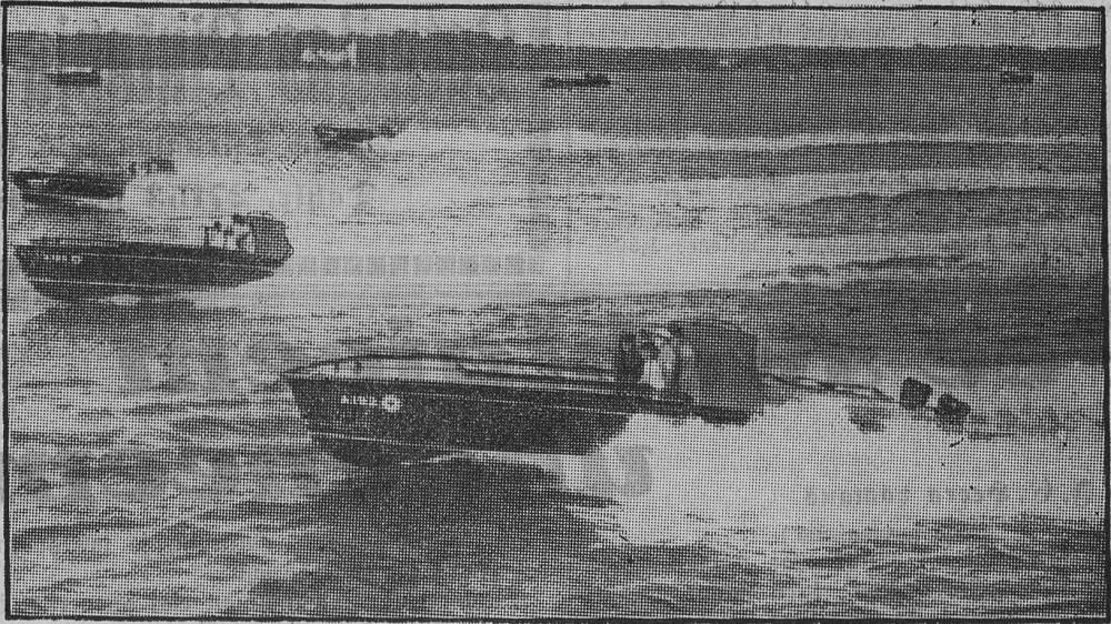 Катера  министерства авиации Англии  на испытаниях. 1934г