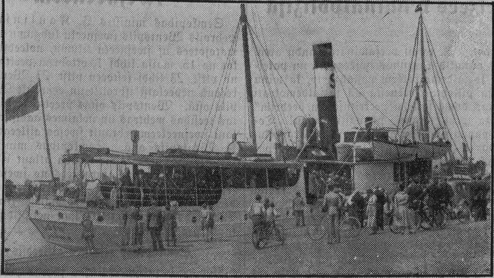 шведский пароход ОДИН в Рижском порту 05.1934г.