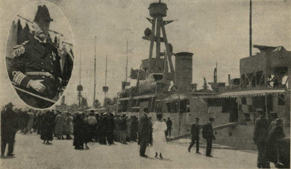 Датская  эскадра. Командир.... Owalā Eskadros komandeers kontradmiralis  Amdrups