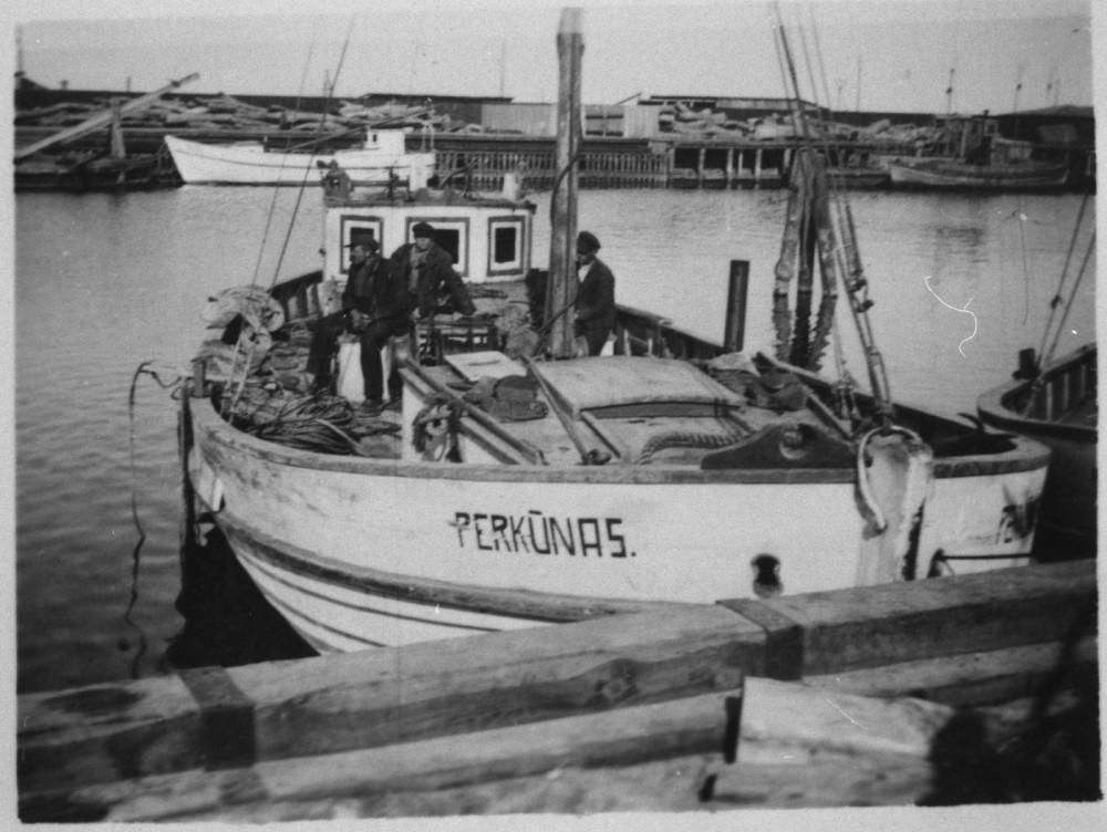 Рыболовный куттер PERKUNAS в Швентой.