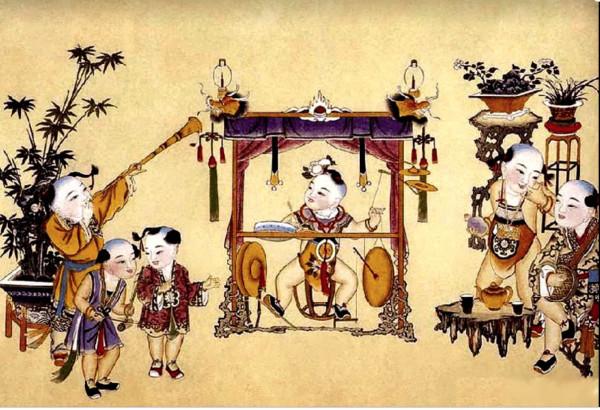 Classic Chinese New Year's Painting - season of entertainment .jpg