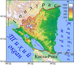 300px-Рельеф_Никарагуа