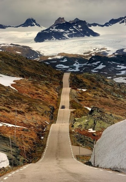 Roller Coaster Road, Sognefjellet, Norway via besttravelphotos