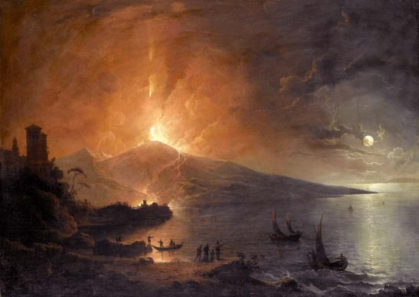 """Генри Петер \\""""Извержение Везувия ночью\\"""" 1770"""