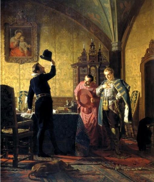 Присяга-Лжедмитрия-I-польскому-королю-Сигизмунду-III-на-введение-в-России-католицизма