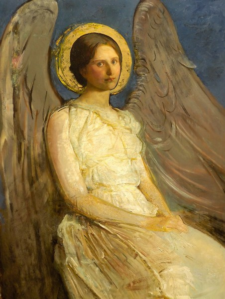 Abbott Handerson Thayer (American artist, 1849–1921) Seated Angel (2).jpg