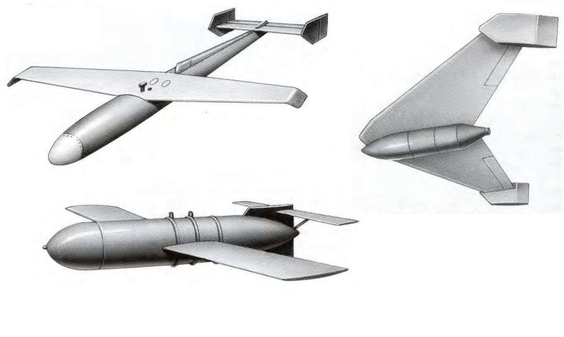 Различные варианты планирующих бомб, предложенных инженерами 67 НКТП. Ни один не был реализован.