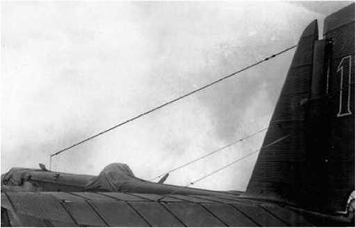 Антенны системы радиоуправления.