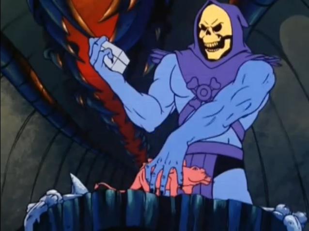 Скелетор: — Да, вот такой вот я многогранный пакостник.