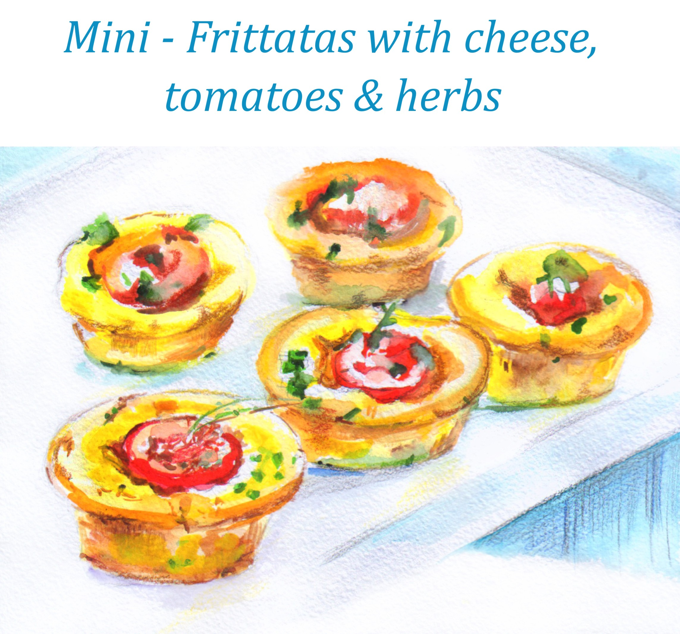 mini frittatas with cheese, tomatoes & herbs