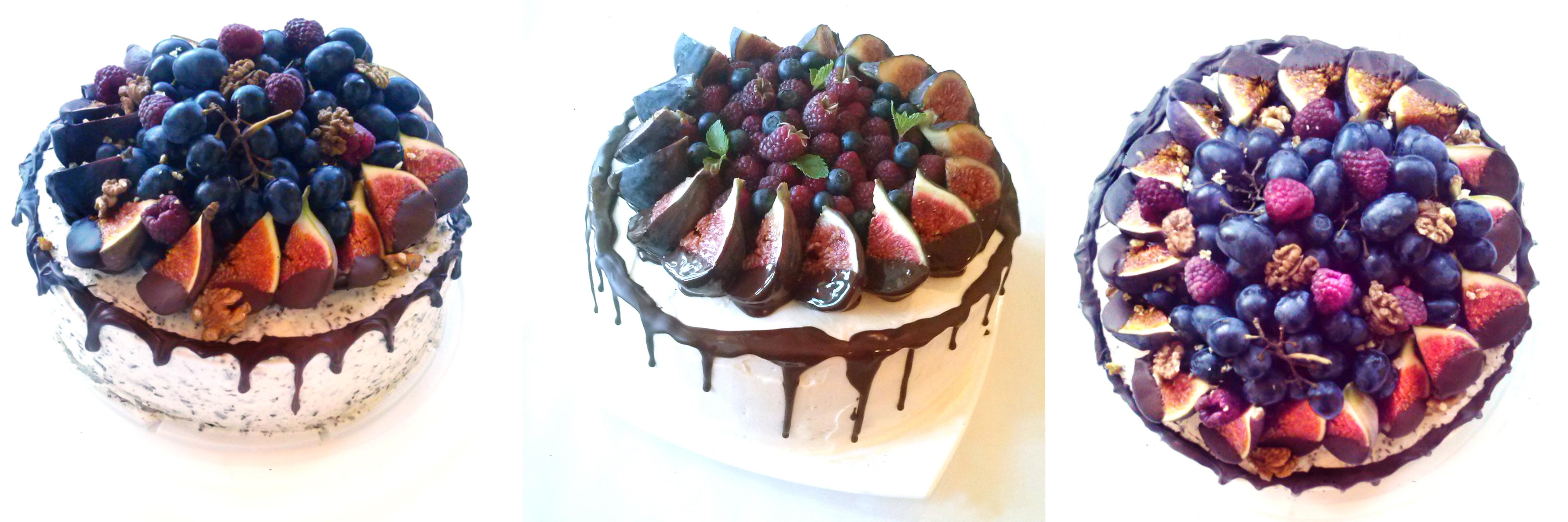 Choco glaze fig cakes