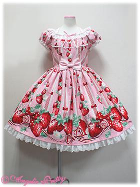 wtb angelic pretty freshly picked strawberries pink op