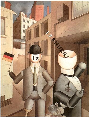 Георг Гросс. Республиканские автоматоны. 1920 год.