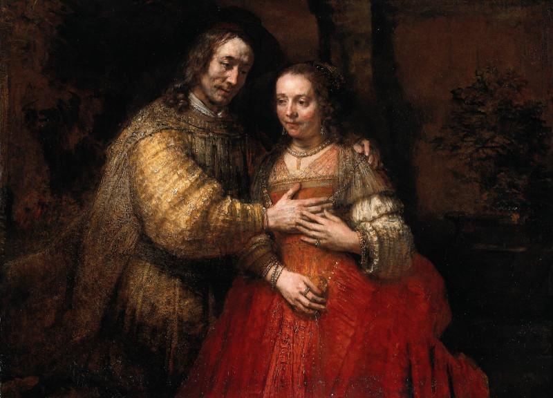 Рембрандт. Еврейская невеста. 1665 год.