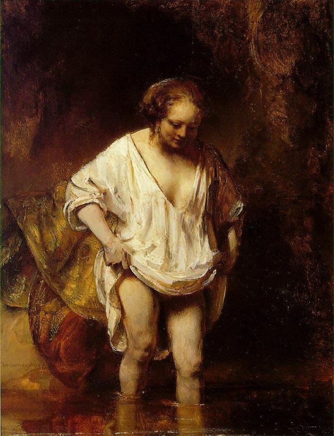 Рембрандт. Купальщица.