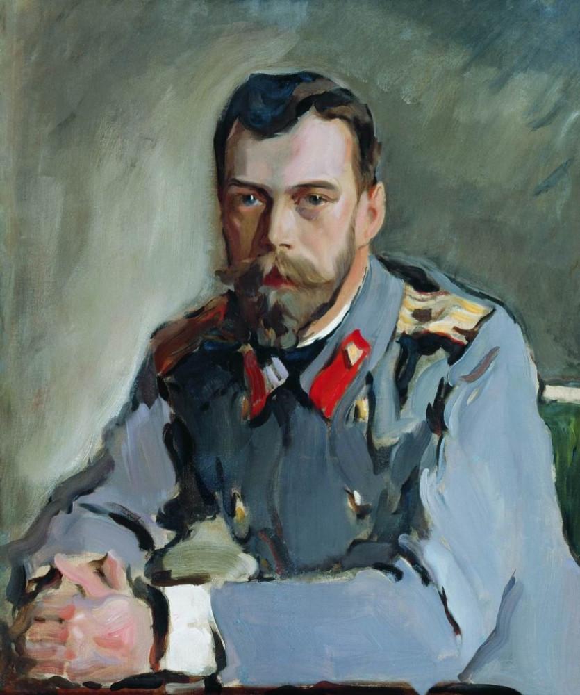 Валентин Серов. Портрет императора Николая Второго. 1900 год