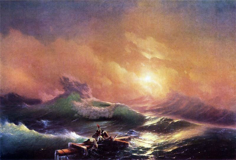 девятый вал.  1850 год