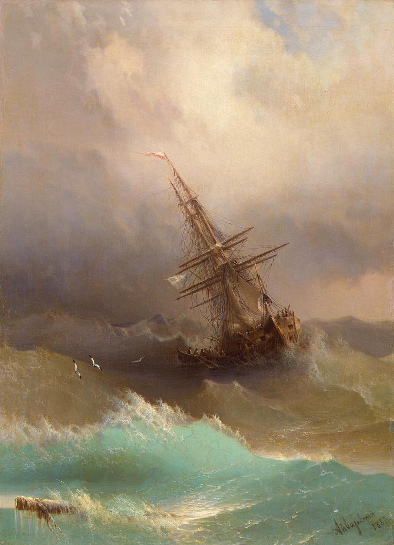 фрегат в будующем море. 1887 год