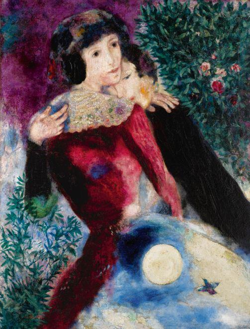 Марк Шагал. Влюбленные
