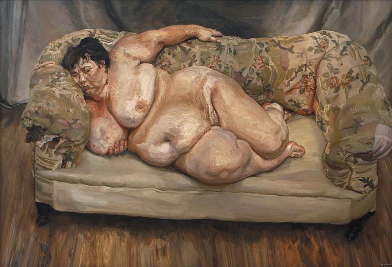 Люсьен Фрейд. Социальный работник спит. 1995 год