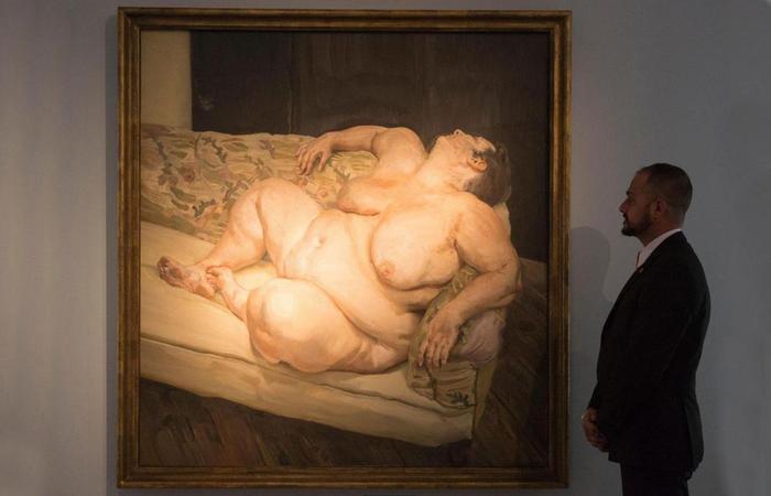 Люсьен Фрейд. Социальный смотритель отдыхает. 1994 год