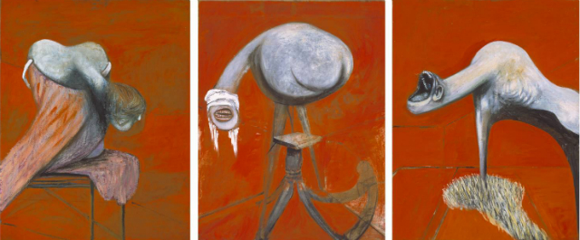 Фрэнсис Бэкон. Три этюда фигур у подножия распятия. 1944 год. Тэйт. Лондон