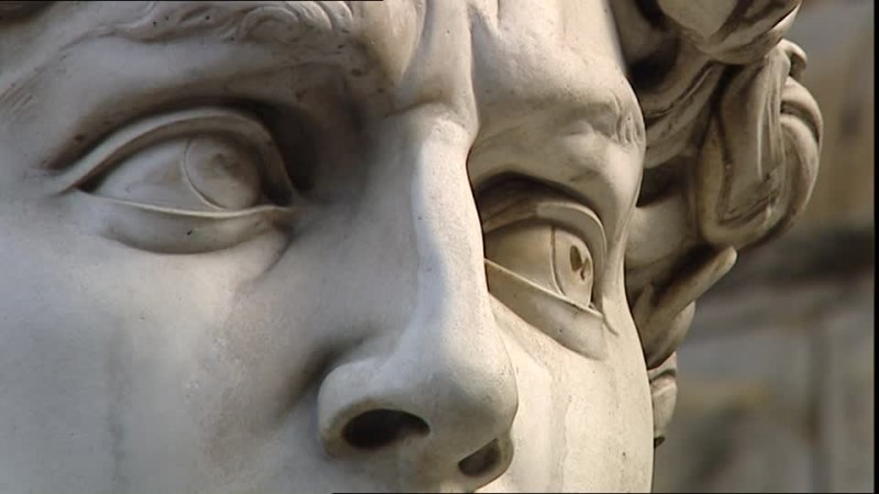 Микеланджело. Давид. фрагмент