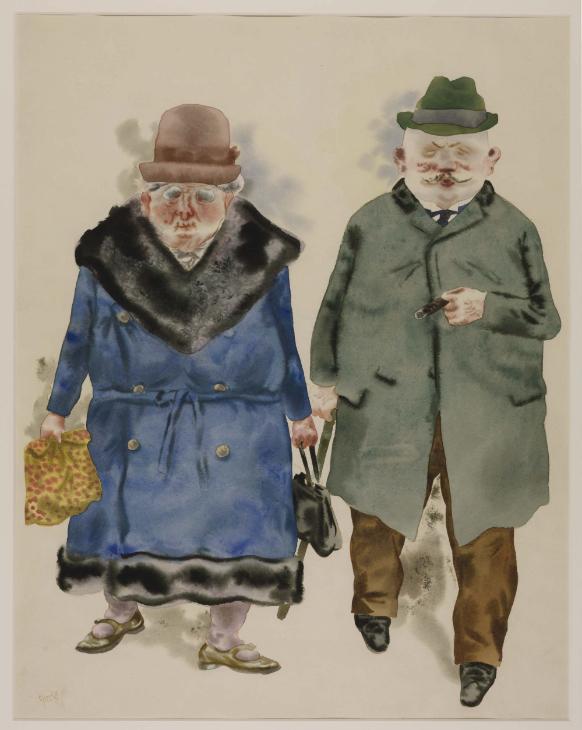 Георг Гросс. Женатая пара. 1930 год.