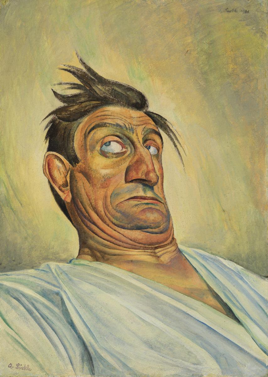 Альберт Биркле. Акробат Шульц. 1921 год.