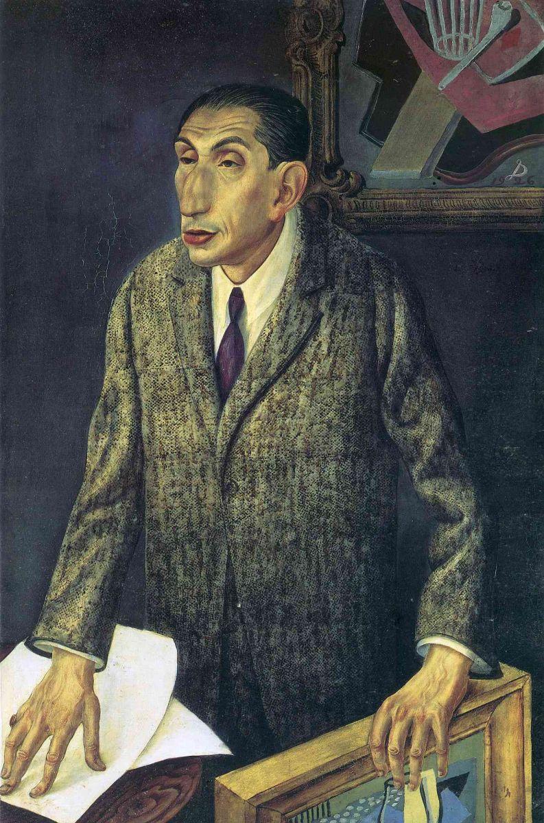 Отто Дикс. Портрет мужчины в пальто. 1926 год.