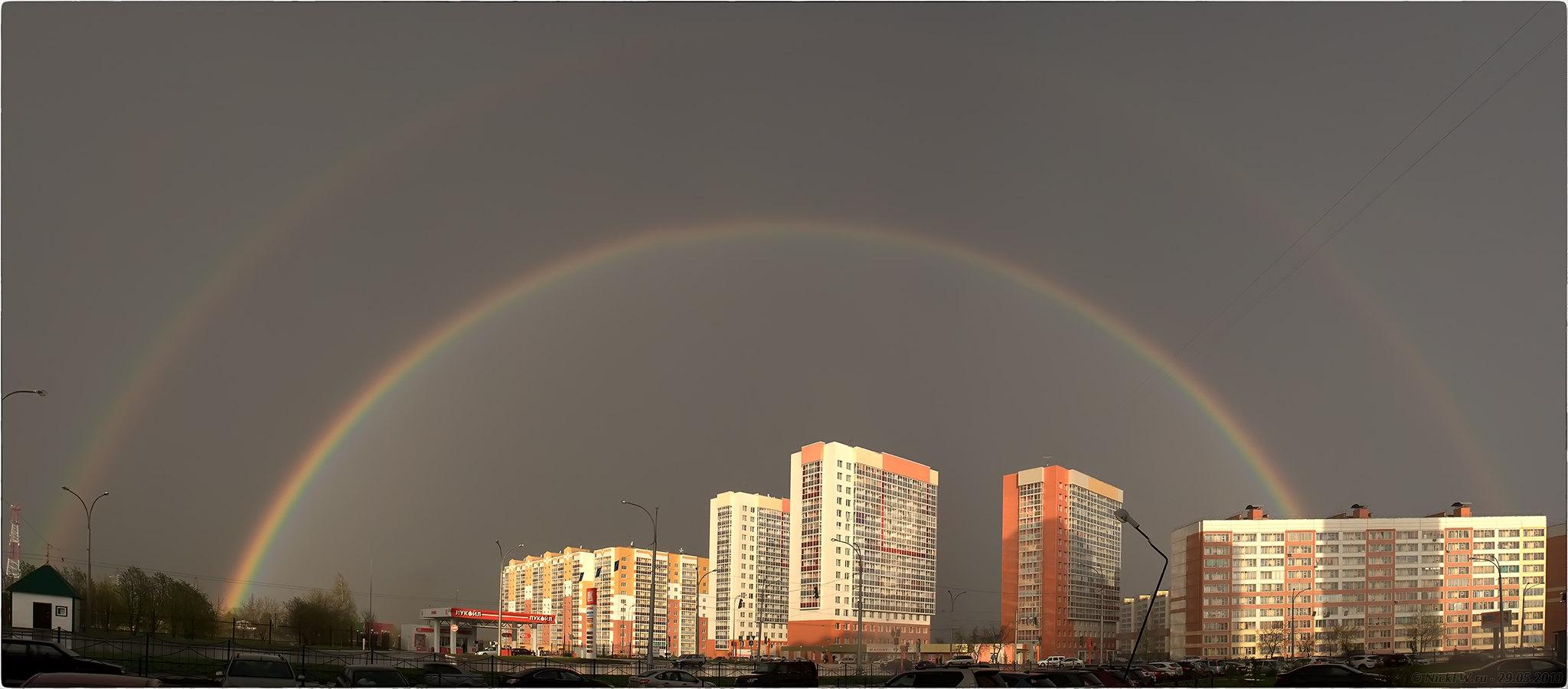 Панорама двойной радуги © «Фото.дзен - NickFW.ru»